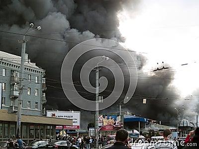 Slavyansky market explosion in Dnipropetrovsk, Ukr Editorial Image