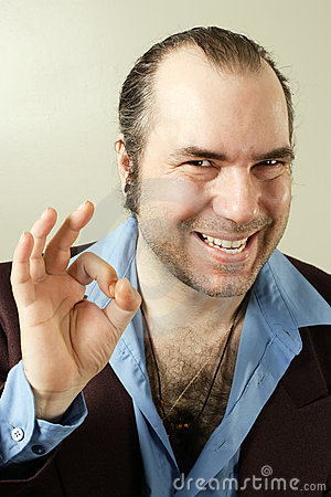 Free Sleazy Smiling Con Man Stock Photography - 14963572