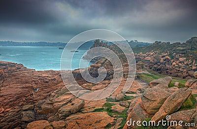 Slecht weer in Bretagne
