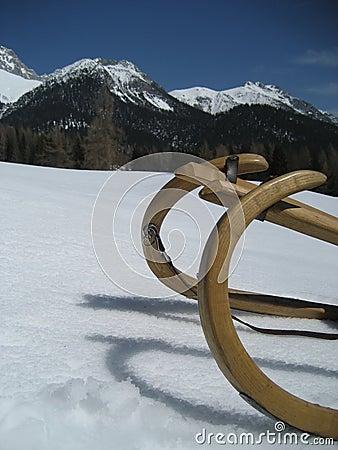 Sled in Snow in Tirol / Tyrol