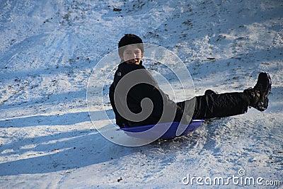 Sledding in Central Park Editorial Image