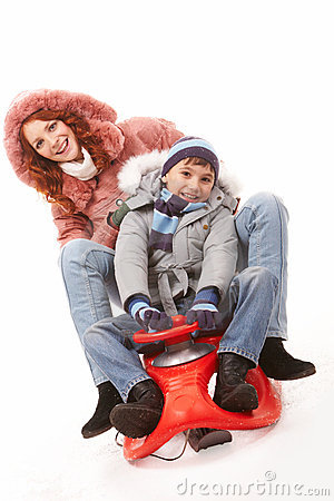 On sledge