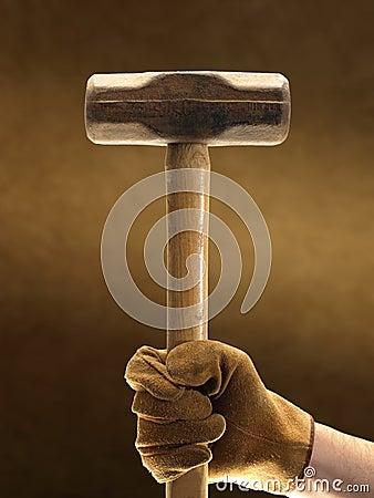 Sledge Hammer and Glove