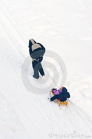 Sledges in snow