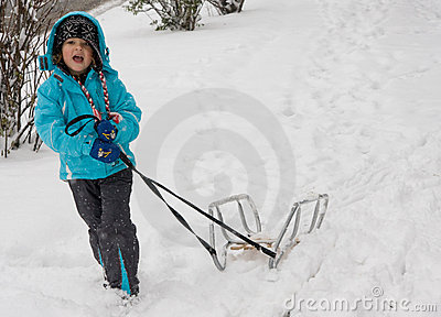 Sledging in a blizzard