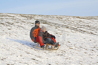 Sledging - winter fun