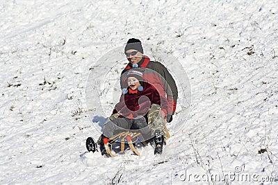 Sledging - winter fun