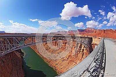 Sleek  bridge  in the Navajo Reservation