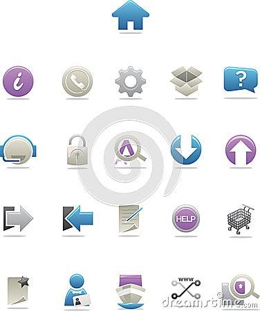 Sleek Modern Web Icons