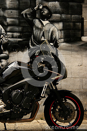 Sleek motorcyle