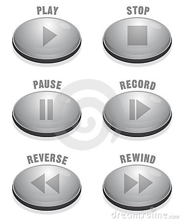 Sleek Silver Button