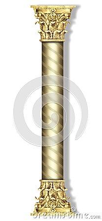 Sleek striped column