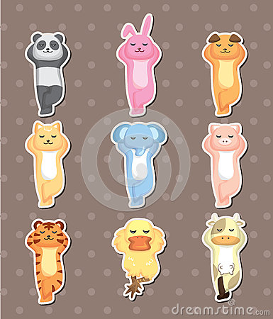 Sleep animal stickers