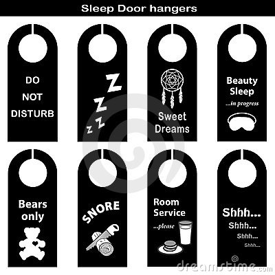 Free Sleep Door Hangers Royalty Free Stock Photo - 22620245