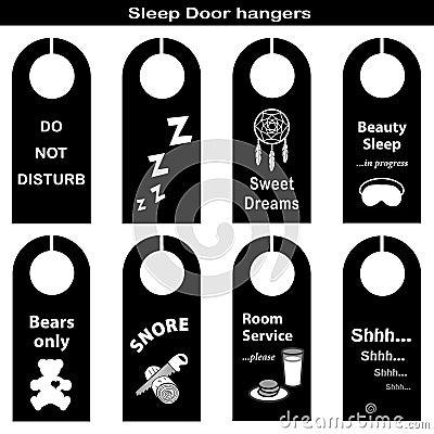 Sleep Door Hangers