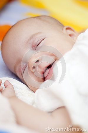 Sleeping Baby Smiling