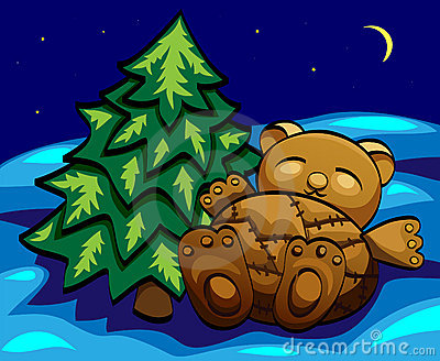 Sleeping  bear toy