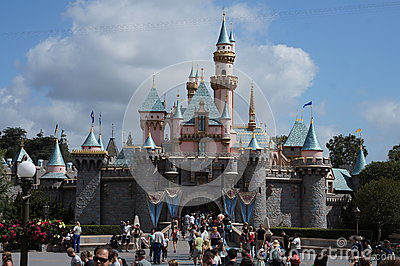Sleeping Beauty Castle Disneyland Editorial Photo