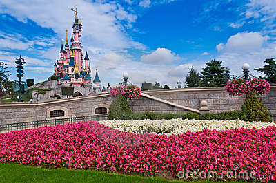 Sleeping Beauty Castle-Disneyland Resort Paris Editorial Stock Photo