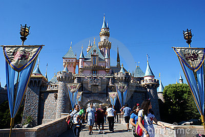 Sleeping Beauty s Castle Editorial Stock Image