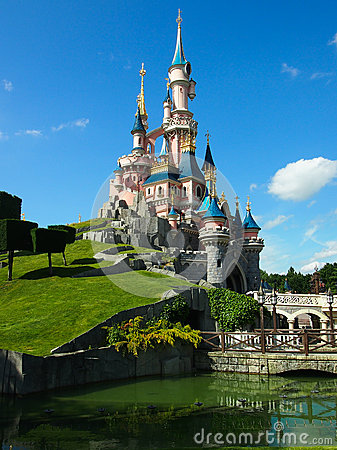 Sleeping Beautys castle at Disneyland Paris Editorial Image