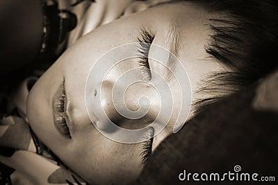 Sleeping boy child nap time