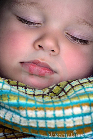 sleeping boy Portrait close up
