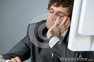 Sleeping businessman