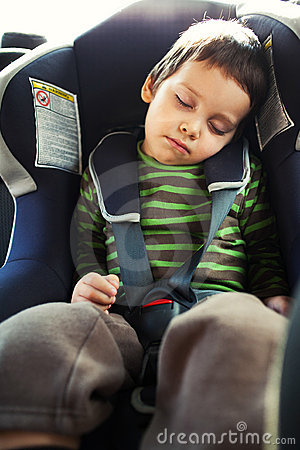Sleeping in car seat