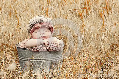 Sleeping country baby