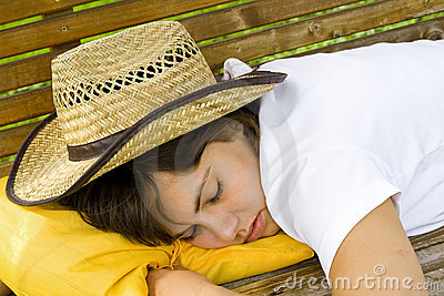 Sleeping cowgirl