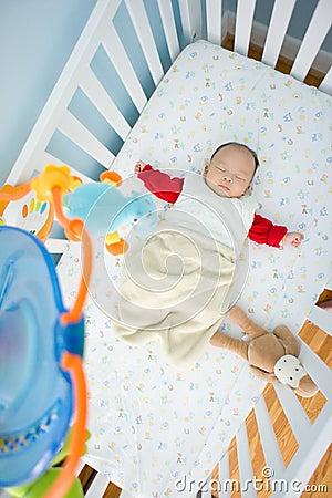 Sleeping in Crib time