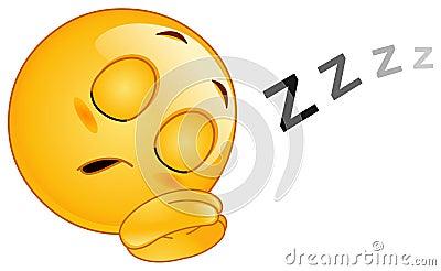 Sleeping emoticon Vector Illustration