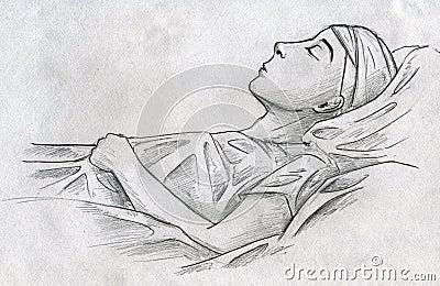 Sleeping ill child