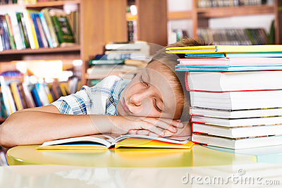 Sleeping in a library