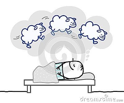 Sleeping man & nice dream