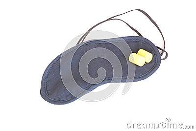 Sleeping mask with ear plugs