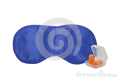 Sleeping mask and earplugs