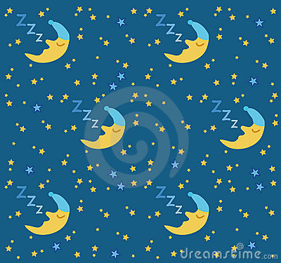 Sleeping moon & stars background