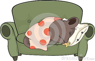 Sleeping mouse cartoon