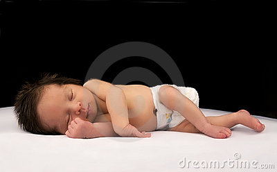 Sleeping newborn Infant