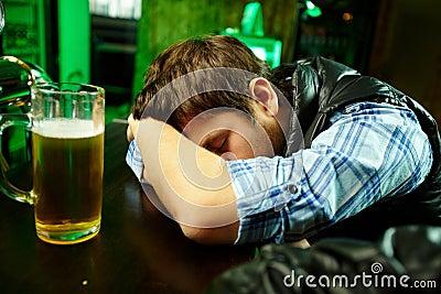 Sleeping in pub