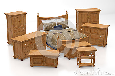 Sleeping room furniture collection royalty free stock for Sleeping room furniture