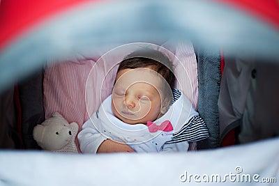 Sleeping in stroller