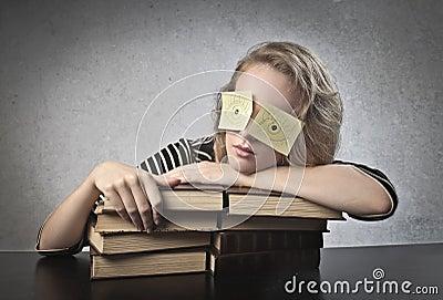 Sleeping Student