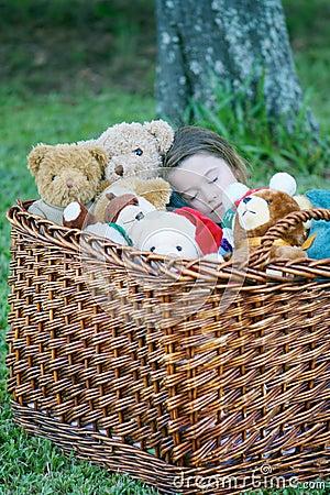 Sleeping with teddy