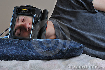 Sleeping TV Man
