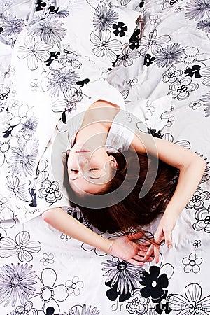 Sleeping young beautiful girl