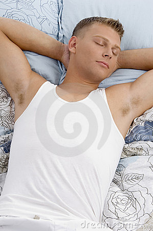 Sleeping young man