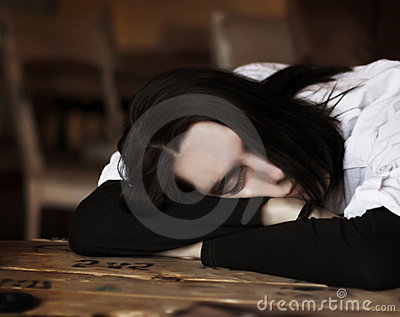 Sleeping young man